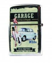 Benzínový zapalovač - GARAGE modré auto