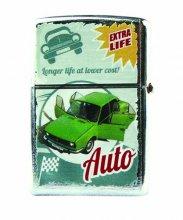 Benzínový zapalovač - ŠKODA  zelené auto